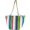 Colorful Paper Straw Tote Bag