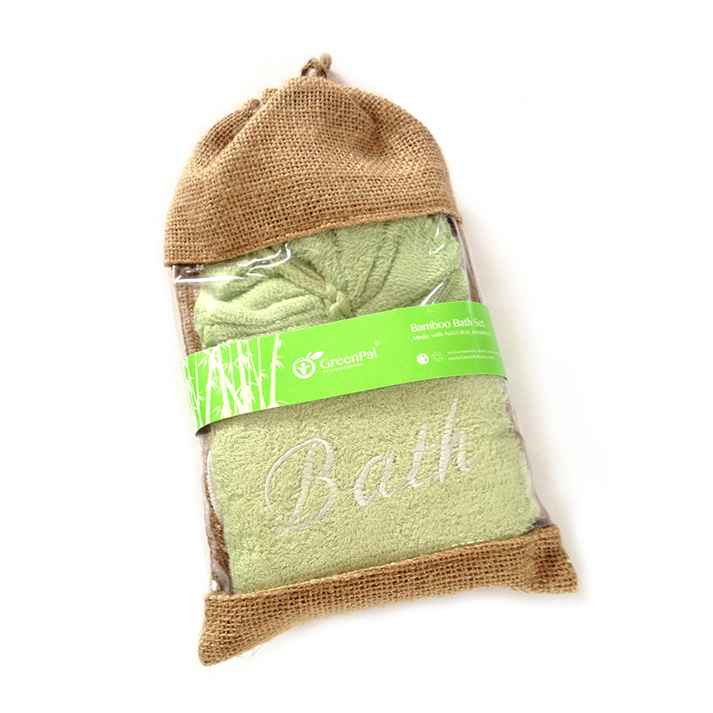 Bamboo Bath Set with Hemp Bag (2 in 1)