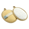 Soybean & Loofah Oval Bath Pad (2 pcs)