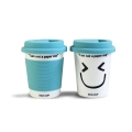 'I Am Not a Paper Cup' - Thermal Porcelain Mug (230ml) - Sky Blue
