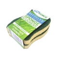 EcoForce Recycled Plastic Super Absorbent Kitchen Sponge Scourers (2 pcs)